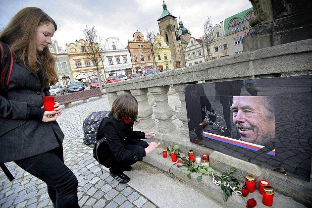 Lidé uctívali památku Václava Havla