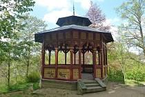 Secesní altán v brodském parku je od roku 2016 kulturní památkou.