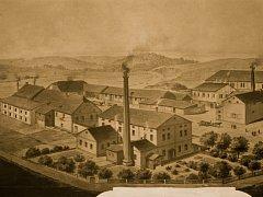 Takto vypadal škrobárenský provoz Františka Malínského v Ronově nad Sázavou.