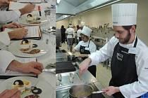 Studenti havlíčkobrodské hotelové školy Jakub Flégr a Adéla Dangová, kteří se zúčastnili prestižní mezinárodní kuchařské soutěže ve Francii.