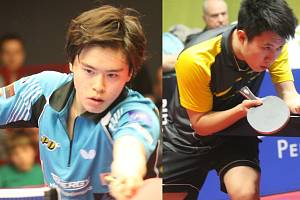 Na souboj Asiatů se mohou při finále extraligy v KD Ostrov těšit fanoušci stolního tenisu. Brodské barvy bude oblékat Masataka Morizono (vlevo) a za El Niňo nastoupí Bai He, který za Havlíčkův Brod hrál před čtyřmi lety.