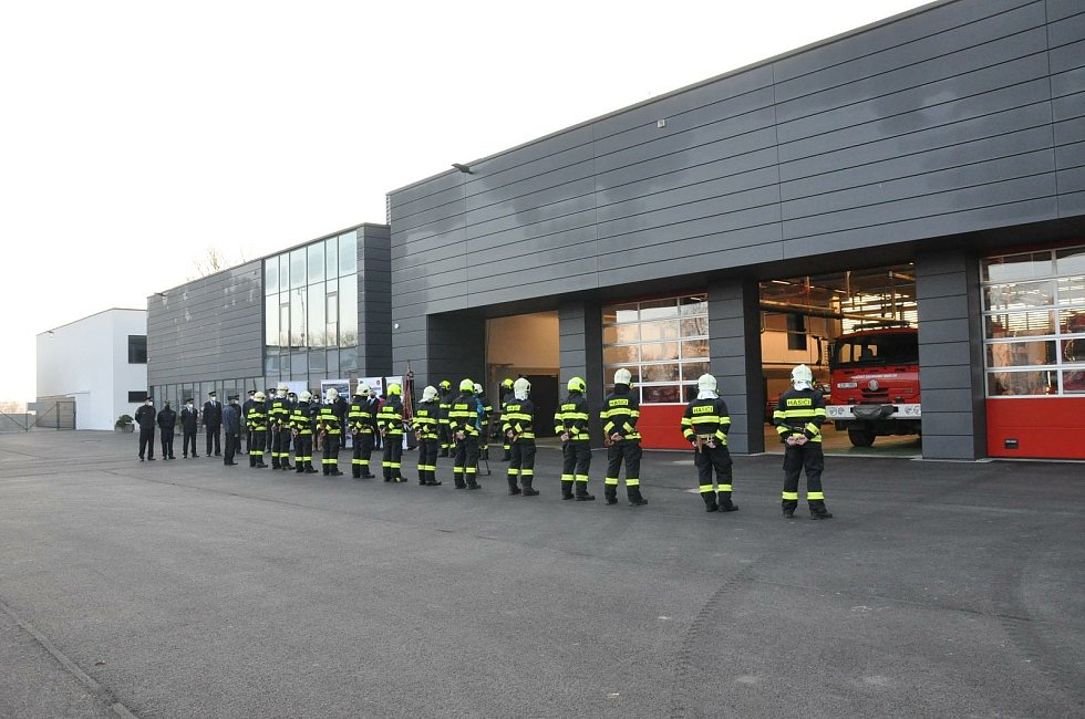 Nová hasičská stanice na Humpolecké.