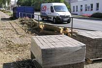 Na Masarykově ulici v Havlíčkově Brodě začaly práce na více než kilometr dlouhé cyklostezce.