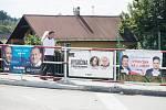 Politické billboardy v Okrouhlici na Havlíčkobrodsku.