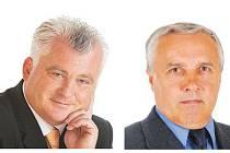 Senátní obvod číslo 40 pro sebe získá buď Jaromír Strnad (vlevo), nebo Zdeněk Nováček.
