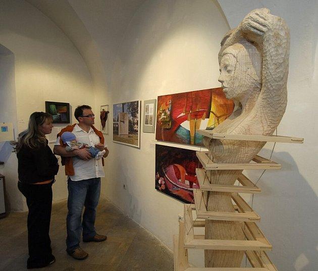 Díla Radomíra Dvořáka jsou především plastická. Rád si hraje s prostorem, ať už ve formě dřeva nebo malby.
