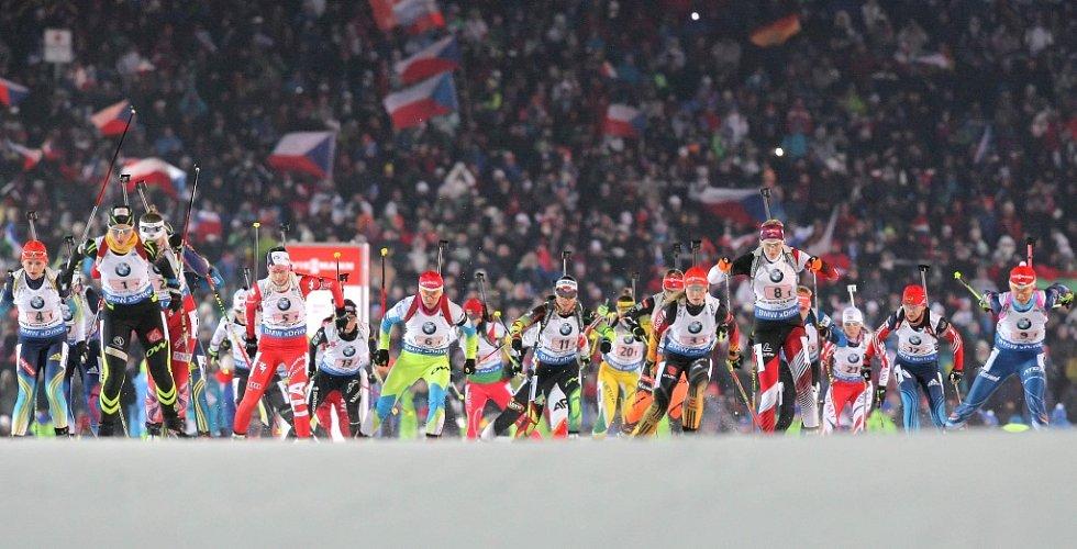 Světový pohár v biatlonu.