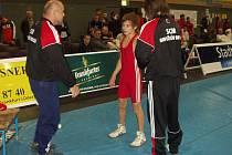 Petr Zachariáš (v červeném) vyhrál v kategorii do 42 kg mezinárodní turnaj ve Frankfurtu nad Odrou.