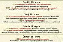 Program Letní žurnalistické školy.