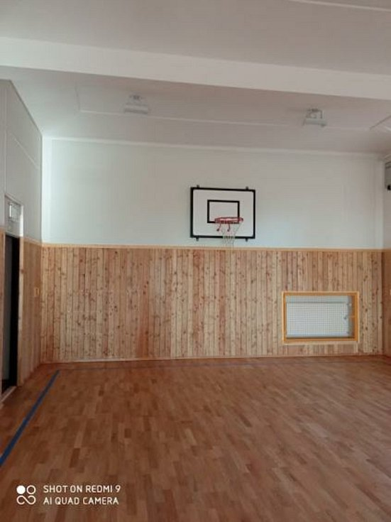 Tak vypadá nová tělocvična v budově školy Komenského.