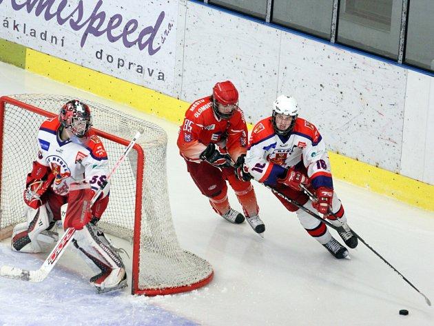 Na třetí třetinu budou chtít co nejdříve zapomenout mladší dorostenci HC Rebel Havlíčkův Brod, kteří nad Olomoucí vedli po dvou třetinách 2:1, ale v závěrečném dějství inkasovali pět branek.