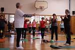 Cvičení pro seniory, které Jaroslava Kabelková vede.