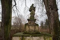 Socha svatého Jana Nepomuckého v Úhrově na Havlíčkobrodsku.