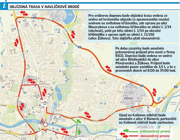 Infografika: objízdné trasy.