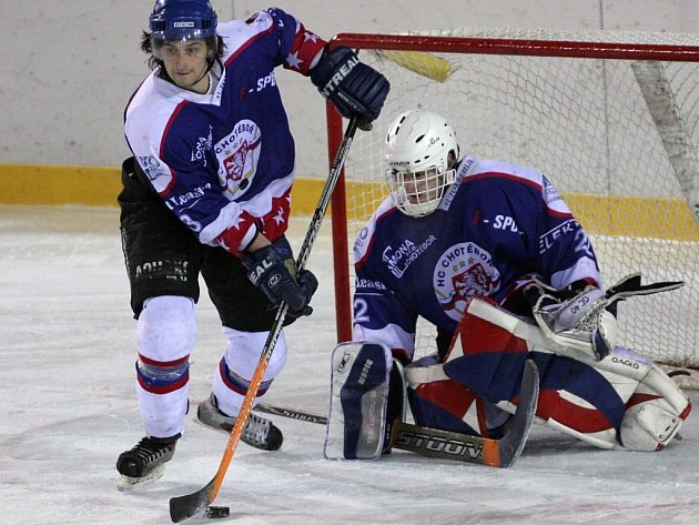 Hokejisté Chotěboře překvapili Moravskou Třebovou, která rozhodla o svém vítězství až v prodloužení.