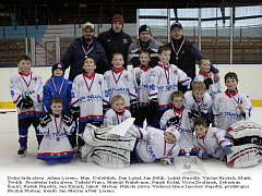 Úspěšný tým nejmladších chotěbořských hokejistů.