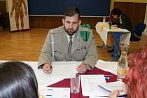 Michal Janáč při zkoušce z odborného předmětu.