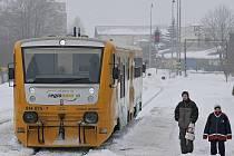 Moderní souprava, kterou na trať mezi Havlíčkovým Brodem a Pardubicemi už ČD nasadily. Jde o jasný příslib lepšího.