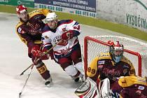 Z hokejového utkání HC Rebel - HC Dukla.