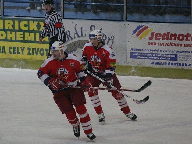 Návrat. Útočník Martin Malát (vpravo) už v Kotlině působil v loňské sezoně,  havlíčkobrodské prostředí tedy velmi dobře zná.