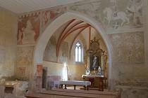 Kostel svaté Markéty skrývá cenné nástěnné malby z doby Václava IV.