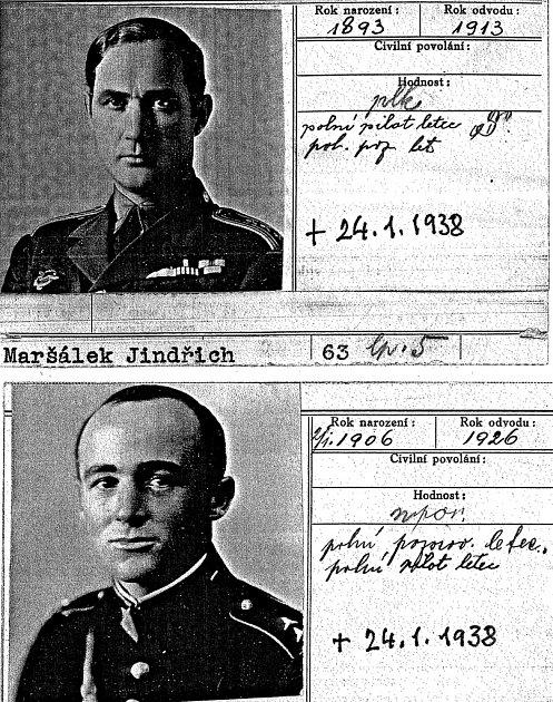 Oběti. Jindřich Maršálek (nahoře), Václav Vyskočil.