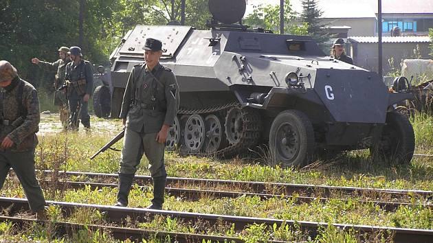 Přepadení vlaku v Chotěboři.