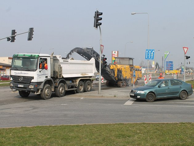 Oprava Masarykovy ulice.