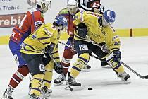 Na hokejisty Horácké Slavie Třebíč čeká těžký zápas, dnes totiž hrají na ledě druhého celku první ligy, Ústí nad Labem. Nicméně třebíčským hráčům už se letos podařilo Lvy jednou pokořit, doma je porazili 5:4 po samostatných nájezdech.