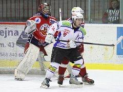 Dvanáct branek nabídlo páteční hokejové derby juniorů mezi brodským BK a Třebíči.  Rozhodla třetí třetina, ve které byla Třebíč produktivnější a radovala se tak z vítězství 7:5.