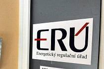 Na energetickém regulačním úřadu hledají policisté data o solárních elektrárnách. Na snímku je vstup do prostor dislokovaného pracoviště v Ostravě.