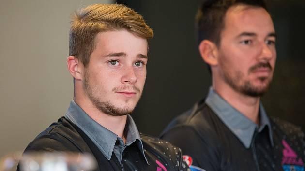 Radek Skála (vlevo) se spoluhráčem Tomášem Treglerem.