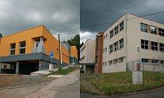 Na snímku vlevo stacionář Petrklíč, vpravo budova obecně prospěšné společností Háta.