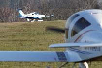 Novoroční létání v Aeroklubu Přibyslav.