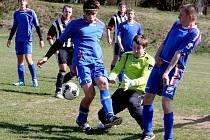 Bez ztráty jsou fotbalisté Šlapanova po výhře v České Bělé ve III. třídě.