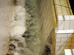 Prostory filtrace v areálu vodní nádrže Švihov