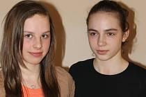 Eliška Pavlasová (vlevo) a Adéla Vlasáková.