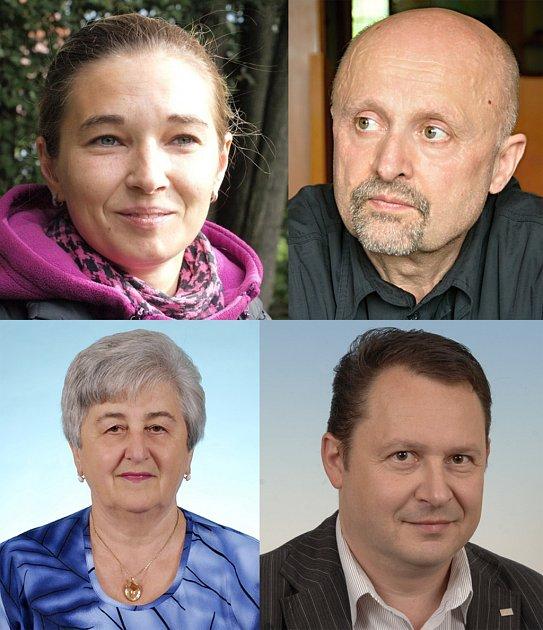 Nahoře: Milena Šťastná a Oldřich Záruba, dole Eva Vyoralová a Martin Sedlák.