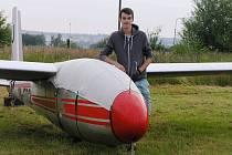 Sen plachtaře Michala Malečka je stát se v budoucnu obchodním pilotem.