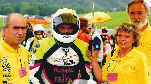 Brodský motocyklista Michal Prášek (na snímku) potvrdil na závodech na maďarském Hungaroringu vítězství v mistrovství ČR.