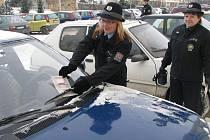 Hlídka u nákupních středisek nebyla jedinou svého druhu. Strážci zákona si posvítí mezi svátky   také na parkoviště u hřbitovů. Považovat zamčené auto se trezor se může nevyplatit kdekoliv.