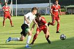 Pohárové utkání mezi fotbalisty Havlíčkova Brodu a Velkého Meziříčí. Z vítězství 3:0 se radovali favorizovaní hosté.