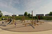 Vizualizace hřiště, které zvítězilo v prvním ročníku participativního rozpočtu. Foto: Město Chotěboř