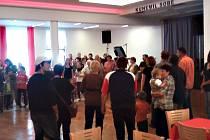Slavnostní otevření tanečního sálu po rekonstrukci.