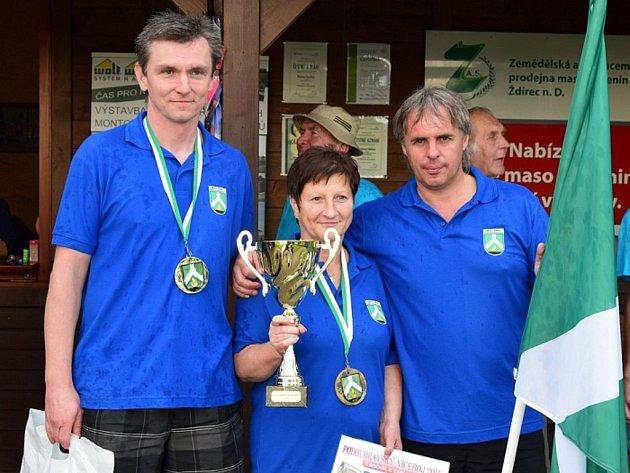 Vítězové Bohumír Nikl, Aleš Bažout a Markéta Culková.