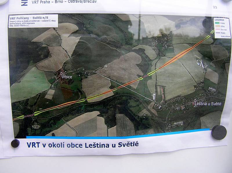 Tak bude vypadat trasa dráhy kolem Leštiny.