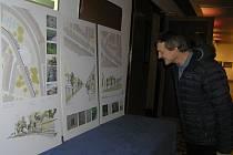 Jak by mělo v budoucnu vypadat Bechyňovo náměstí v Přibyslavi se mohli přesvědčit  návštěvníci kulturního domu v Přibyslavi.