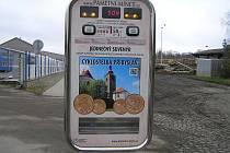 Přibyslav nabízí u cyklostezky originální pamětní mince jako jediná v kraji.