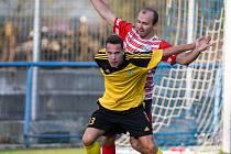 Útočník fotbalistů Ždírce nad Doubravou Matěj Vopršal (ve žlutém dresu) české reprezentaci před evropským šampionátem věří.