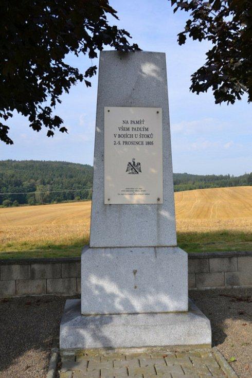 Bitvu připomíná pomník mezi Štoky a Jihlavou.